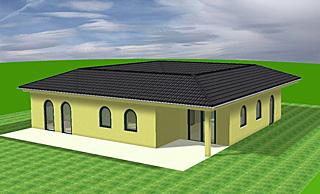 Bungalow mit Atrium 146 qm Wohnfläche