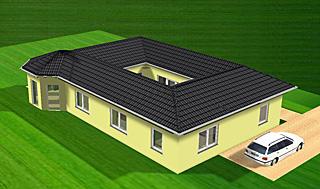Bungalow mit Atrium und Erker 112 m² Wohnfläche