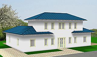 Bungalow mit Atrium mit Erker und Turm142 qm Wohnfläche Bild 1