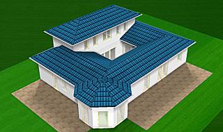Bungalow mit Atrium Erker und Turm 142 qm Wohnfläche Bild 2