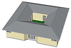 Bungalow mit Atrium 137 qm Wohnfläche plus 26 qm Atrium