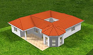 Winkelbungalow Atrium und mit Erker 13 129/16 Variante 3