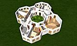 Bungalow Oktaeder mit Atrium 163 qm Wohnfläche plus 27 qm Atrum