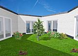 Atrium hauptseite bungalow winkelbungalow einfamilienhaus for Einfamilienhaus innenansicht