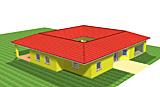 Winkelbungalow 212 m² mit Atrium 37 m² und überdachter Terrasse 29 m²