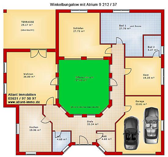 atrium 9 winkelbungalow 212 37 einfamilienhaus neubau massivbau stein auf stein. Black Bedroom Furniture Sets. Home Design Ideas