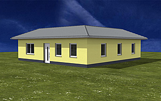 atriumbungalow quadrat 100 16 einfamilienhaus neubau massivbau stein auf stein. Black Bedroom Furniture Sets. Home Design Ideas