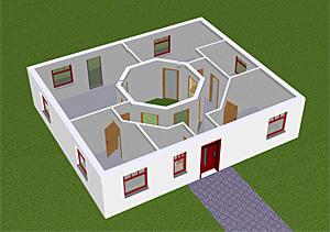 atrium 3 1 bungalow einfamilienhaus neubau massivbau stein auf stein. Black Bedroom Furniture Sets. Home Design Ideas