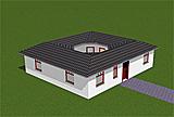 Bungalow 83 m² mit Innengarten (Atrium) 13 m²