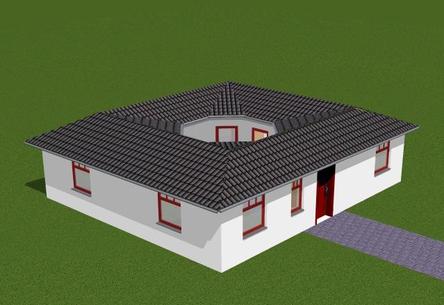 atrium 3 1 gross bungalow einfamilienhaus neubau massivbau stein auf stein. Black Bedroom Furniture Sets. Home Design Ideas