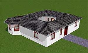Bungalow 88 m² mit Lichterker und Atrium