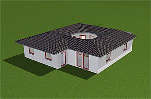 Winkelbungalow 94 m² mit Atrium 13 m²
