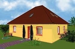 bungalow 110 einfamilienhaus neubau massivbau stein auf stein. Black Bedroom Furniture Sets. Home Design Ideas