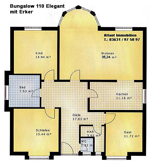 Grundriss Bungalow Mit Erker : Bungalow Neubau  beste Wohnqualität!  Bungalows ab 91 m²