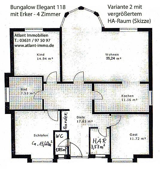 Grundriss bungalow 4 zimmer  Grundriss Bungalow Mit Erker ~ speyeder.net = Verschiedene Ideen ...