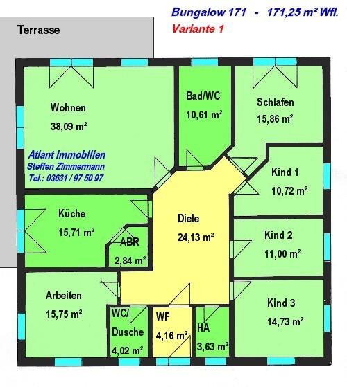 Grundriss bungalow 6 zimmer mit garage  Bungalow Neubau - beste Wohnqualität! - Bungalows ab 91 m² Wohnfläche