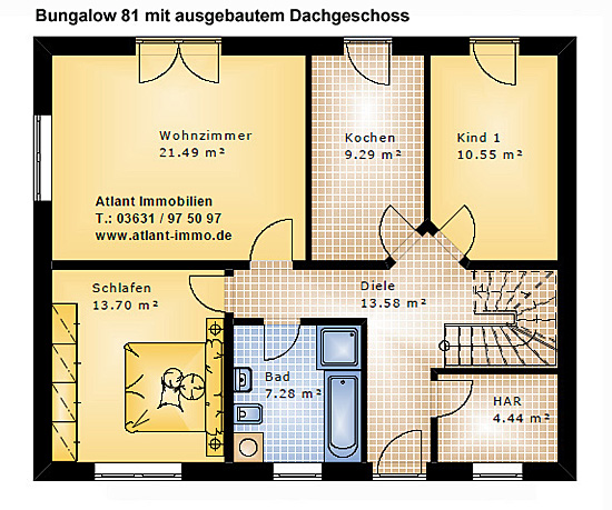 bungalows ab 64 m wohnfl che bungalow neubau beste. Black Bedroom Furniture Sets. Home Design Ideas