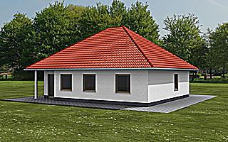 bungalow 84 30 they einfamilienhaus neubau massivbau stein. Black Bedroom Furniture Sets. Home Design Ideas