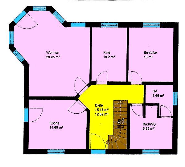 Bungalow 89 m² mit Lichterker Grundriss bei DG-Ausbau