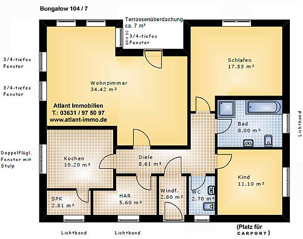 Gaste Wc Mit Dusche Bilder : Bungalow m² einfamilienhaus neubau massivbau grundriss stein