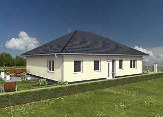 bungalow 113 18 mit garage einfamilienhaus neubau massivbau stein auf stein. Black Bedroom Furniture Sets. Home Design Ideas