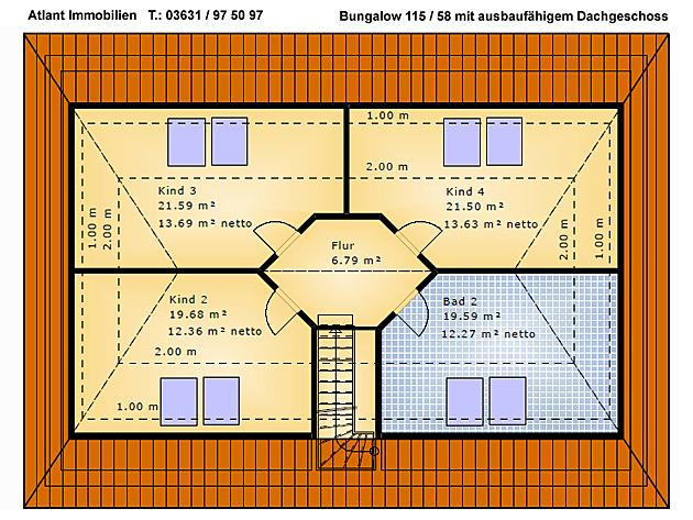 bungalow 115 58 einfamilienhaus neubau massivbau grundriss stein auf stein. Black Bedroom Furniture Sets. Home Design Ideas
