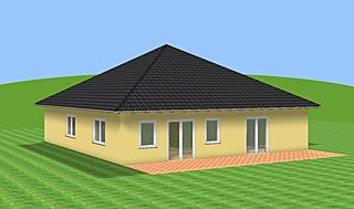 Bungalow mit Zeltdach 131 m² Wohnfläche