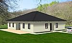 bungalow hauptseite einfamilienhaus wohnen auf einer ebene neubau massivbau stein auf stein. Black Bedroom Furniture Sets. Home Design Ideas