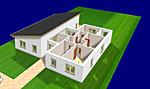 Einfamilienhaus als Bungalow mit Pultdach