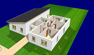 Einfamilienhaus neubau pultdach  Bungalow 157 mit Pultdach Einfamilienhaus Neubau Massivbau ...