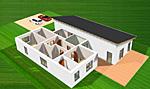 Bungalow 157 mit Pultdach 157 qm Wohnfläche