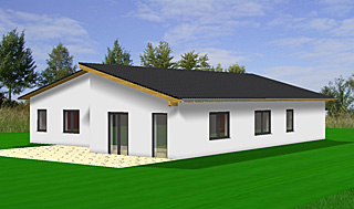 bungalow mit pultdach und garage cutsom cantilever carports for bungalows bungalow house with. Black Bedroom Furniture Sets. Home Design Ideas