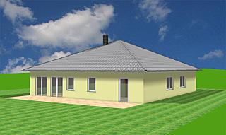 Bungalow 161 m² Wohnfläche mit Zeltdach