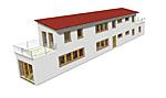 Extrem schmales zweigeschossiges Einfamilienhaus 373 Variante 2GR 126 qm Wohnfläche