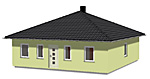 Bungalow 83 m² Wohnfläche mit Zeltdach