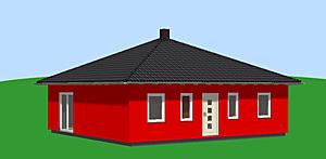 Bungalow mit Zeltdach 83 m² Wohnfläche