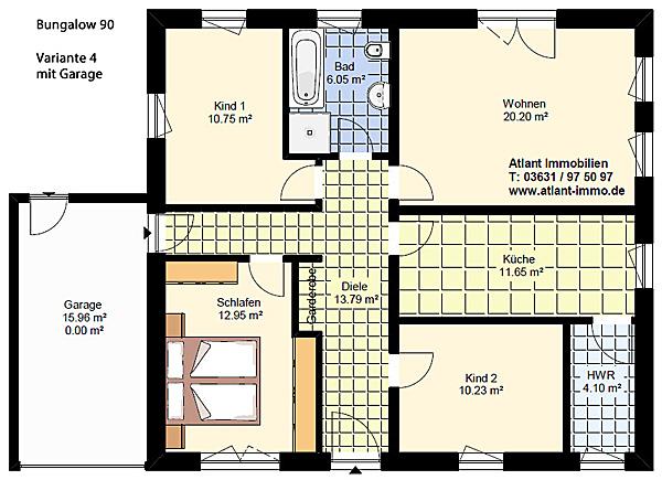 bungalow 90 4 zimmer var 4 einfamilienhaus neubau. Black Bedroom Furniture Sets. Home Design Ideas