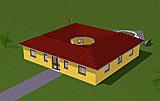 Bungalow 114 m² mit Atrium 13 m²