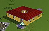 Bungalow 114 m² mit offenem Atrium 13 m²