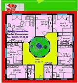 Bungalow 161 m² mit offenem Atrium 13 m² Grundriss