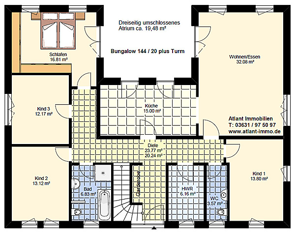 Atrium 144 20 Plus Turm Bungalow Einfamilienhaus Neubau