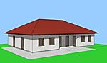 Winkelbungalow 159 m² mit dreiseitig umschlossenem, überdachtem Atrium