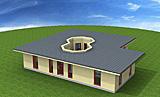 Winkelbungalow 131 m² mit Atrium 26 m²