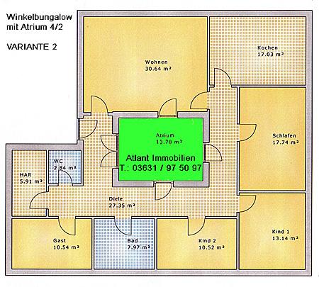 atrium 4 2 bungalow einfamilienhaus neubau massivbau stein auf stein. Black Bedroom Furniture Sets. Home Design Ideas