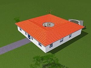 Bungalow 161 m² mit offenem Atrium 13 m²