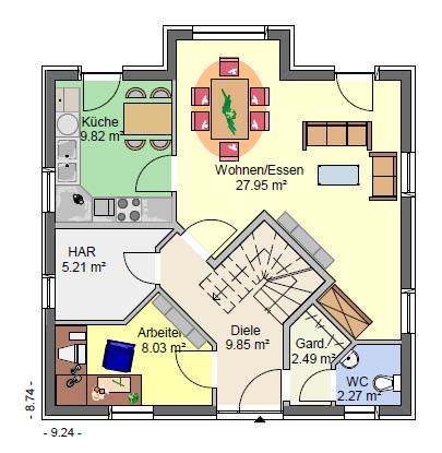 Massivhaus neubau einfamilienh user ab 100 qm wohnfl che for Grundriss einfamilienhaus 100 qm