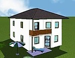 """Einfamilienhaus """"Family 123 zweigeschossig Walm Extra"""""""