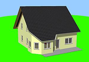 Family mit Erker 150 Einfamilienhaus Neubau Massivbau Stein auf Stein
