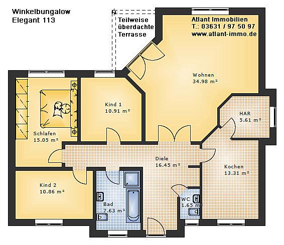 Ein Massivhaus Winkelbungalow Massiv Und Schlà ...