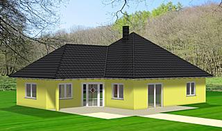 winkelbungalow 103 plus dg einfamilienhaus neubau massivbau sein auf stein. Black Bedroom Furniture Sets. Home Design Ideas
